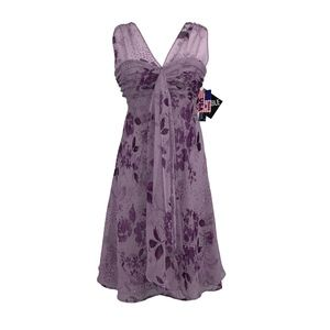 R&M Richards Sheer Floral Dress (New, w/Tags)